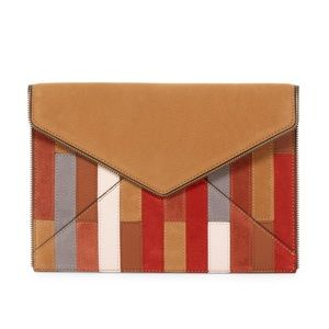 Rebecca Minkoff Patchwork Leather Envelope Clutch
